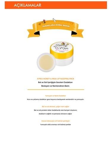 Missha Süt Ve Ballı Nemlendirici Dudak Uyku Maskesi Apıeu Honey & Milk Lip Sleeping Pack Renksiz